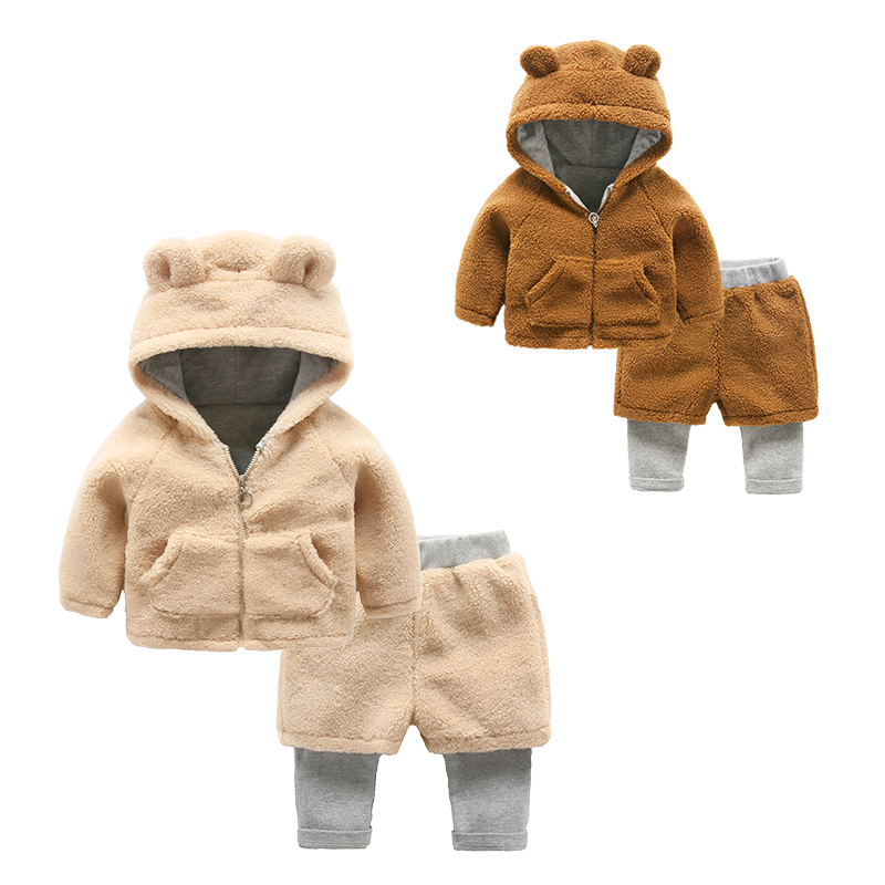 baby girl sets winter coat and pants children clothes wholesale
