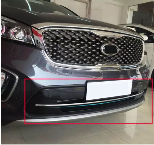 ACCESSORIES FIT FOR KIA SORENTO 2016 UM CHROME FRONT LOWER BUMPER LIP GRILL COVER INSERT PROTECTOR MOLDING TRIM SPOILER GUARD show chrome accessories 52 612 saddlebag molding insert
