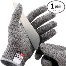 1 Pair Cut Resistant Kitchen Gloves Anti Cutting Work Glove High Performance Level 5 Protection Kids