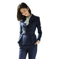 Формальные Для женщин костюмы офис устанавливает Тонкий Повседневная обувь Профессиональный костюм Для женщин s Бизнес Костюмы Блейзер ко