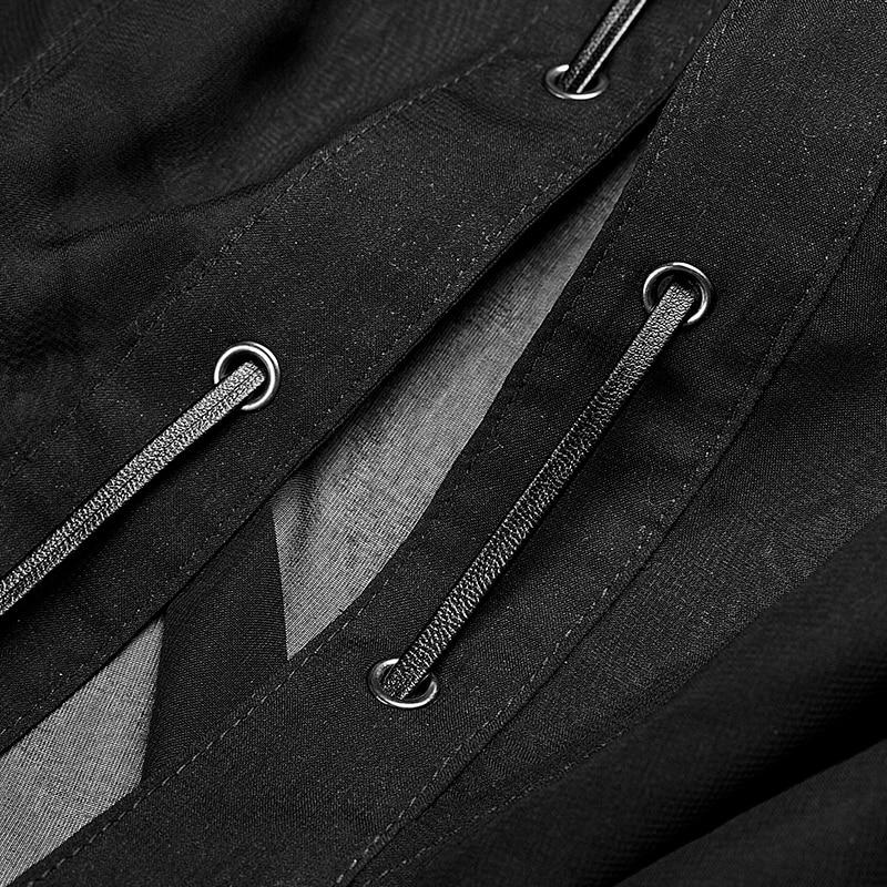 Plage De Soleil Avec Manteau Nouveau Casual Translucide Noir D'été Femelle Mousseline Porter Long Punk Anti Soie Capuche Asymétrique aXgqnOvZwx