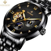 лучшая цена Reloj Hombre Men Watches Automatic Mechanical Watch Business Sport Wristwatch Fashion Casual Military Waterproof Male Clock