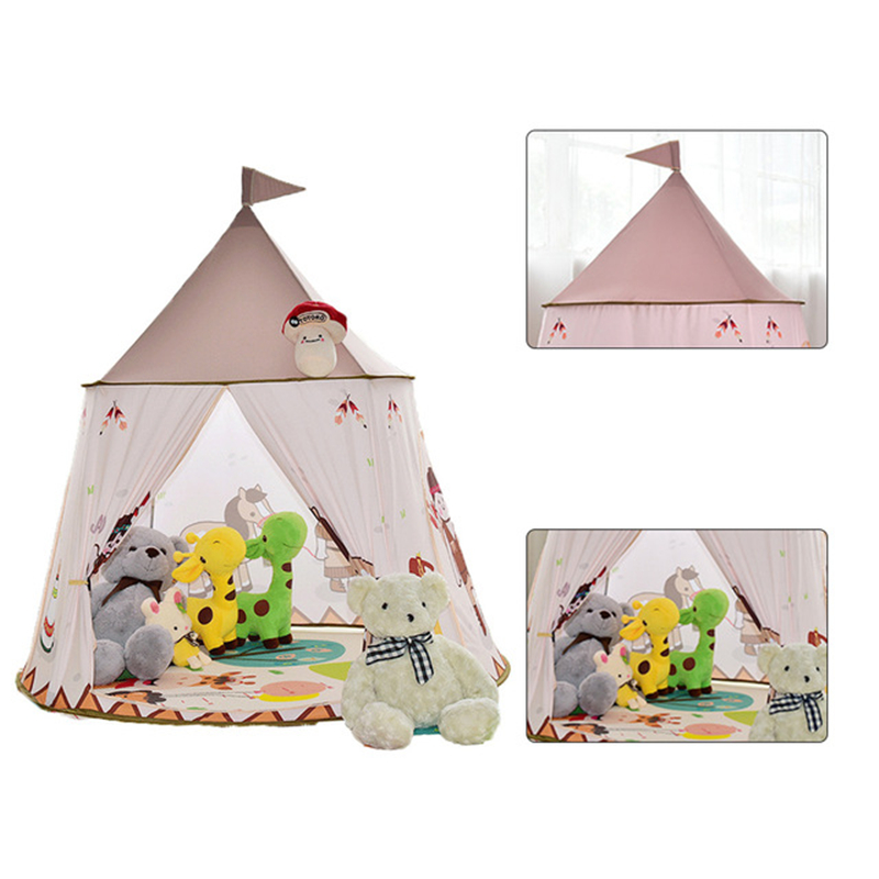 save off b39b1 a73d9 US $34.51 36% OFF Princess Play Tent Children's Room Fun Toy Baby Kids  Portable Outdoor Infantil Playhouse Toy Teepee Tipi Play Tent Birthday  Gift-in ...