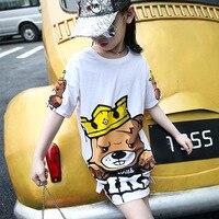 Children's Garment New Pattern Children Long Cartoon T Girl Korean T-shirts Kids Clothing Printed