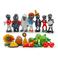 16Pcs/30pcs Plants & Zombies Finger Toy PVC Plants Zombies Action Figures Toy Doll Set for Cosplay Party Decoration Keychain