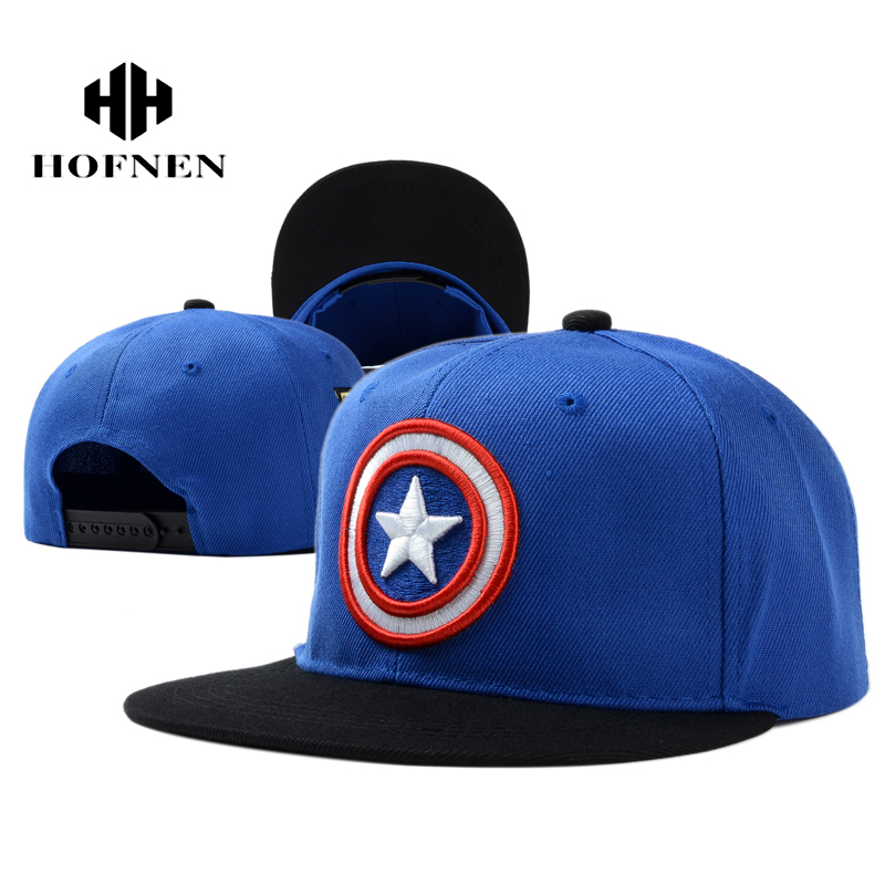 captain america baseball hat red blue 39thirty cap shield caps men women marvel the avengers adjustable bone