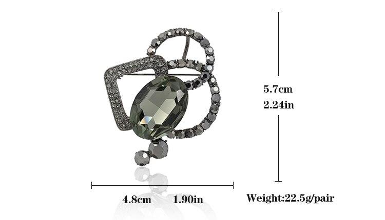 VEYO Yüksək keyfiyyətli kristal sancaqlar Brooch Moda eşarpı - Moda zərgərlik - Fotoqrafiya 5