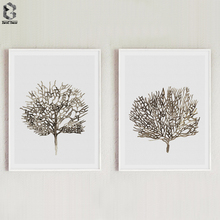 Abstract Posters And Prints Canvas Wall Art Tree Painting Picture For Living Room Decoration