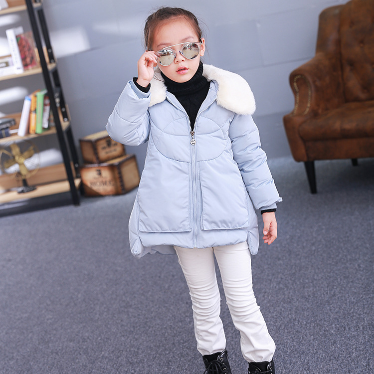 ФОТО Children down jacket hooded fashion warm down coat of the girls  Free shipping