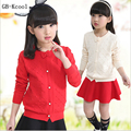 Fashion 2017 Girls Cardigan Sweater Spring Autumn Children Cotton Single-Breasted  Outerwear Sweaters Kids Knit Long Sleeve Top