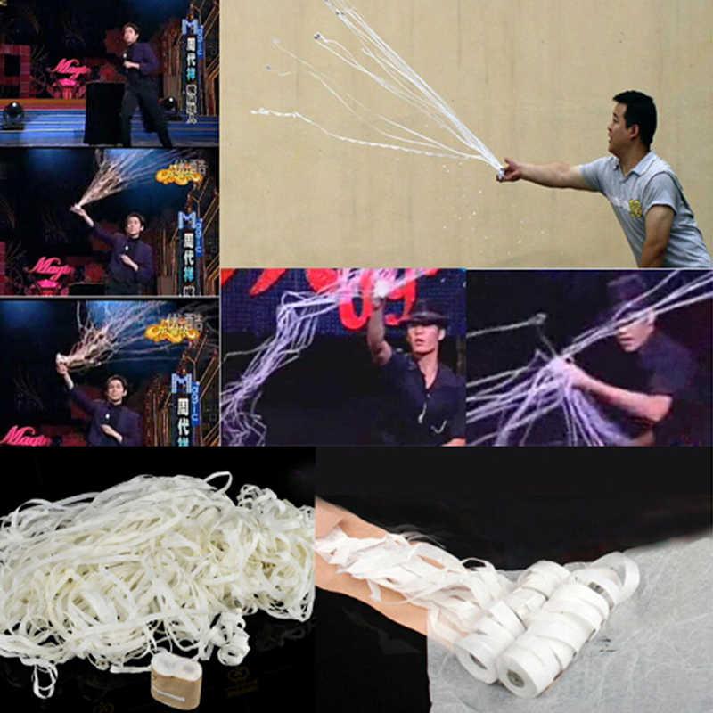 Throw стримеры паук нить 16 головок сценический волшебный аксессуар волшебник трюк магические трюки Детские фокусы