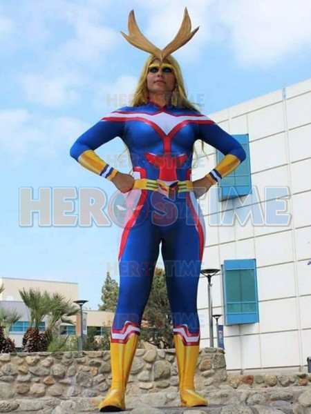 My Hero Academia Female All Might Cosplay Costume Boku no Hero Academia 3D Print Lycra Ladys Zentai Bodysuit Girls/Women Suit