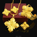 New Arrival Ethiopian CrossJewelry Set 24K Gold Plated Necklace/Pendant/Earring/Ring/Bangle African Wedding Set