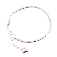 Contracted Fashion Pure Color Silver 925 Bracelet Snake Chain Screw Fits Women Exquisite Gift
