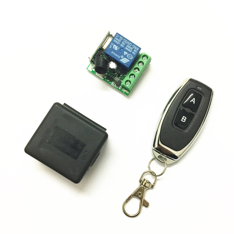 QIACHIP 433Mhz Universal Wireless Remote Control Switch DC 12V 1CH relay Receiver Module RF Transmitter 433 Mhz Remote Controls new 1ch 7v 12v 24v dc relay module switch wifi rf 433mhz wireless remote control timer switches for light work by phone