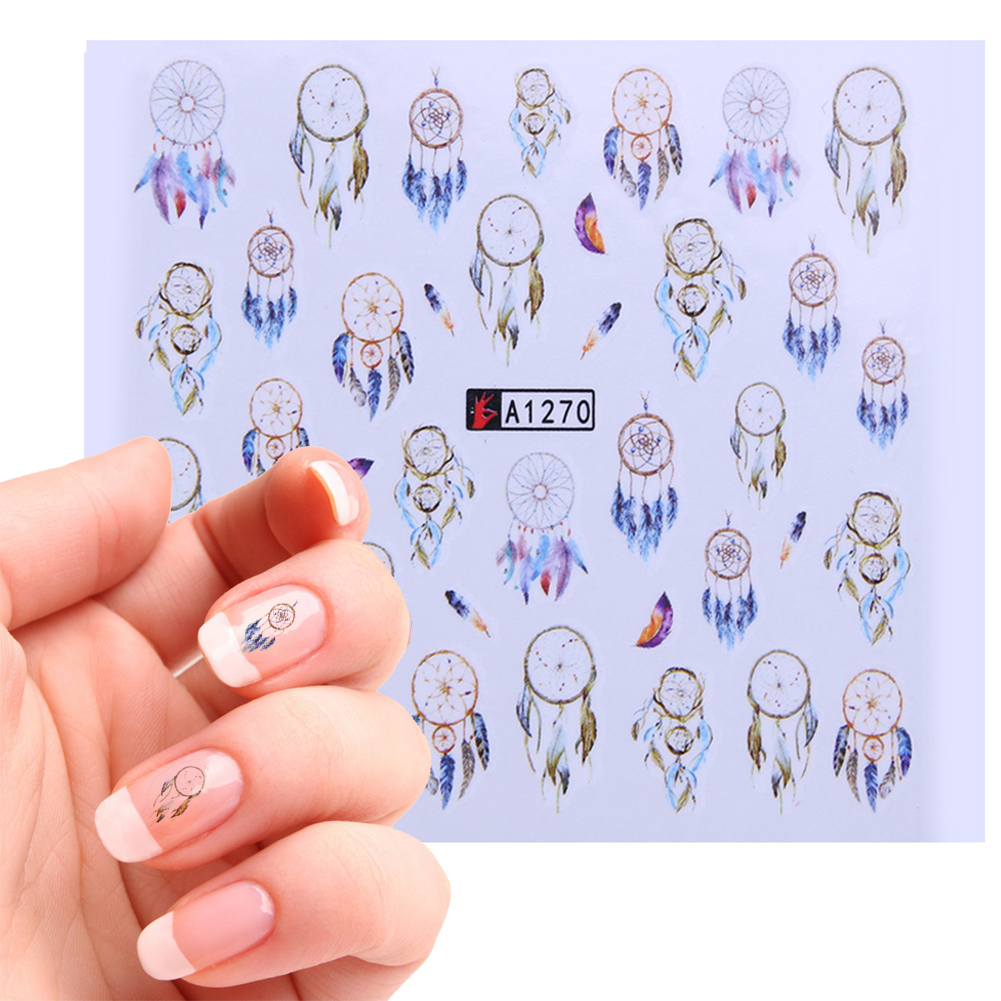 12Sheets/Lot Nail Art Sticker Dream Catcher Fantasy Manicure Nail Decoration DIY Tattoos Manicure Water Transfer Decals 2017 new dream catcher water transfer nail art sticker water decals diy decoration for beauty nail tools a1262