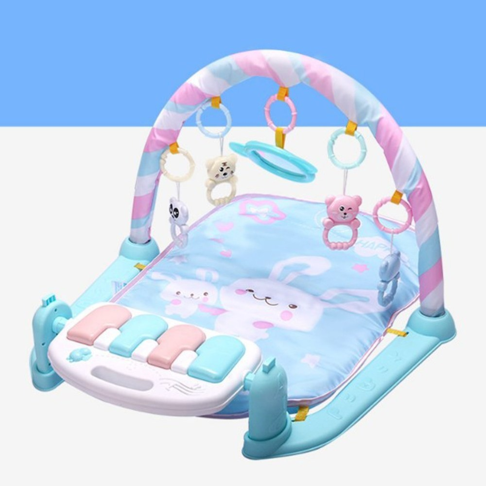Fitness Bodybuilding Frame Pedal Piano Music Play Mat Blanket Activity Gym Toy for   Months