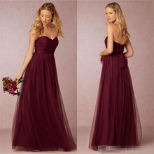 Cheap Sexy Long Wedding Burgundy Bridesmaid/Party/Prom/ Dresses/Gowns Turquoise/Navy/Sparkly/Lavender/Purple Junior w608182