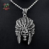 SKY Außenhandel aus Hochwertigem Schmuck Anhänger Spot Indian Chief männer Geschenke Halskette Anhänger Für Freund Heißer Verkauf