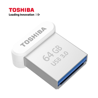 TOSHIBA флеш-накопитель USB 3,0, объемом памяти 32 Гб или 64 ГБ флэш-накопитель Металл Мини Палец Flash Memory Stick 120 МБ/с. U диск 2017 Новый 128 г