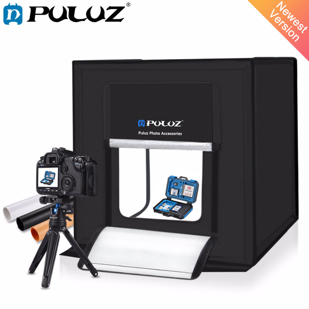 PULUZ 60*60cm 24light box Portable mini photo studio box softbox 60W White Light Photo Lighting Studio Shooting Tent Box Kit подушка 40х40 с полной запечаткой printio штурмовик
