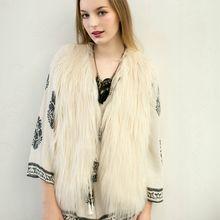2018 Promotion Fur Coat Faux Fur Vest Fashion Ladies Autumn & Winter Warm Sleeveless Fake V-neck Waistcoat Design Outwear Hn92