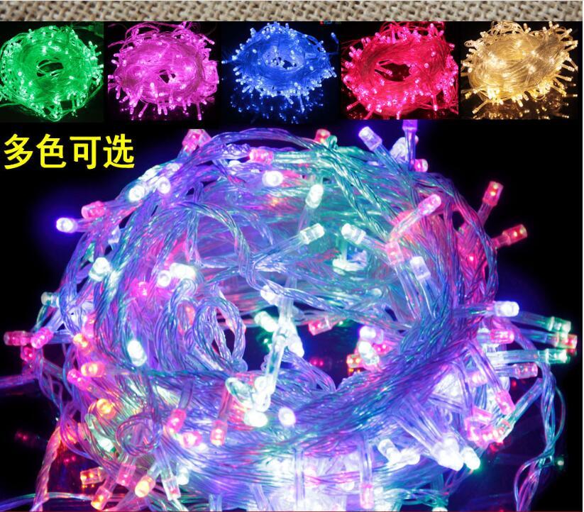 무료 배송 20M 200 LED가 110V 220V 문자열 조명 화려한 방수 휴가 주도 조명 크리스마스 / 웨딩 / 파티 Decorat 주도