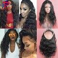 8A Pré Arrancadas 360 Rendas Onda Do Corpo Do Cabelo Virgem 360 Rendas Frontal Para As Mulheres Negras Brasileira Virgem Do Cabelo Do Laço Frontal Com O Bebê cabelo