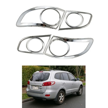 The high quality 4PCS ABS Chrome TAIL LAMP COVER for Hyundai Santa Fe 2006-2012 Tail Light Cover Lamp Trim