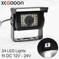 XCGaoon Универсальная автомобильная камера заднего вида 170 градусов Водонепроницаемость 24 светодиосветодиодный ночное видение вход DC 12V-24V, со...