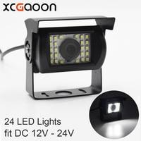 XCGaoon Universal Car Rear View Camera 170 Gradi Impermeabile 24 LED Notti Visione di ingresso DC 12 V-24 V, compatibile con BUS & Truck