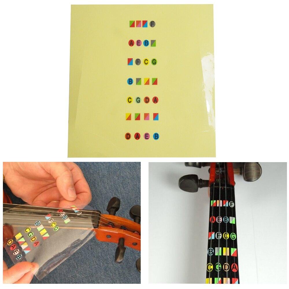 4/4 Violin Sticker Fretless Finger Guide  Fiddle Fingerboard Map Mark Stickers For Beginner