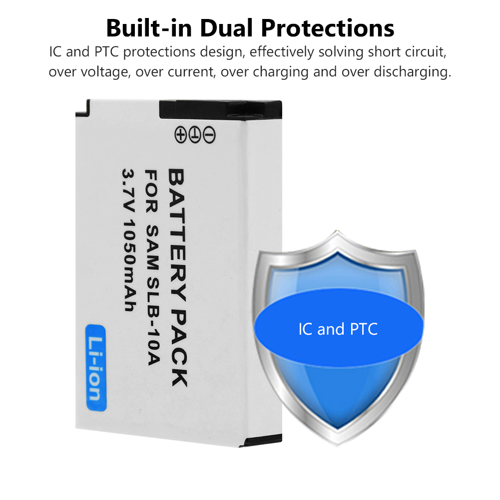 Batería para Samsung wb850f sl102 es60 wb280f wb800f l110 wb200f l310w wb550 1050mah