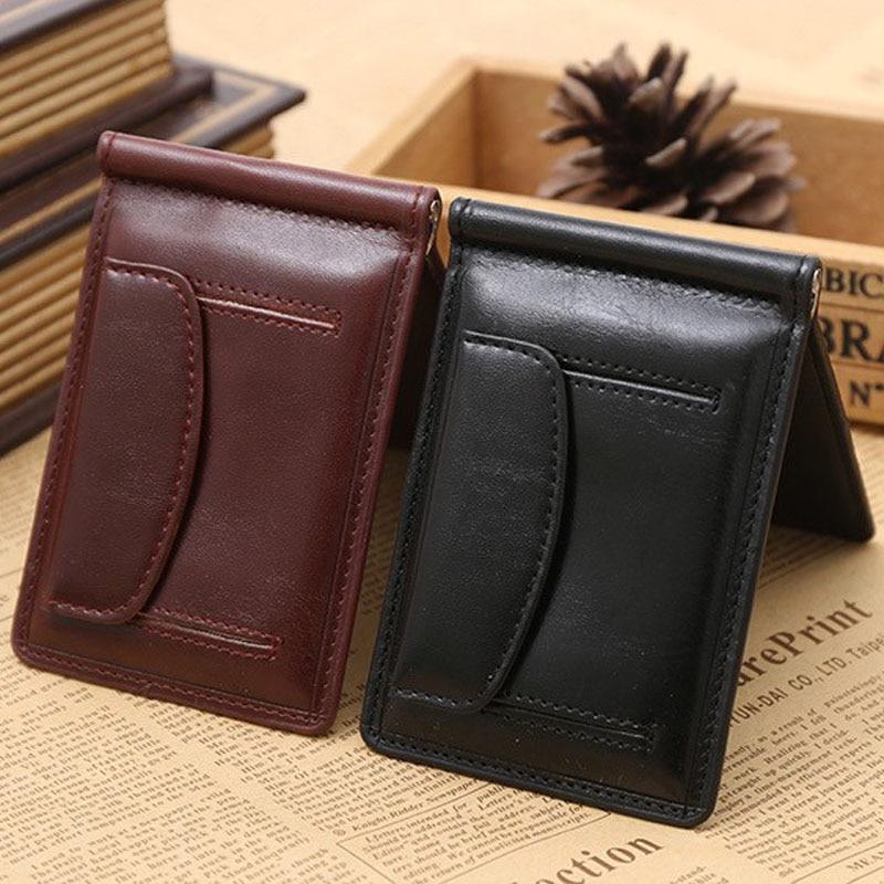 Nouveau Mode GUBINTU Marque petit clip de l'argent portefeuille avec sac d'argent aimant hasp mini sac à main en cuir pour homme