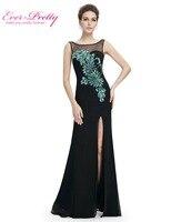 Long Elegant Prom Dresses Mermaid 2016 Black Plus Size Sexy Latest Stock Split Leg HE08759BK Women