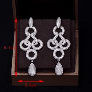 Image 5 - GODKI Brand New Hot Fashion Popular Luxury Long Dangle Full Cubic Zirconia Pave  Wedding Earring For Women