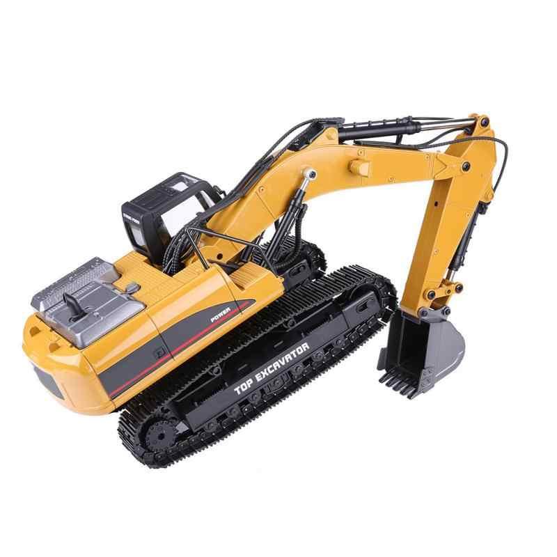 HUINA 1580 2,4G 1:14 23CH 3 в 1 Rc гидравлический экскаватор электрическая модель экскаватора инженерное транспортное средство с дистанционным управлением