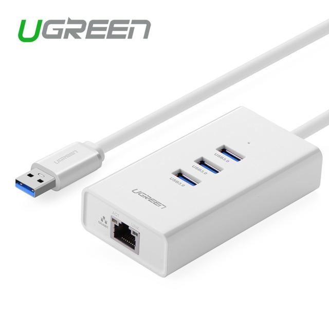 Ugreen 3 Порт USB 3.0 HUB10/100 Мбит rj45 Ethernet LAN Проводной Сетевой Адаптер для Windows, Mac
