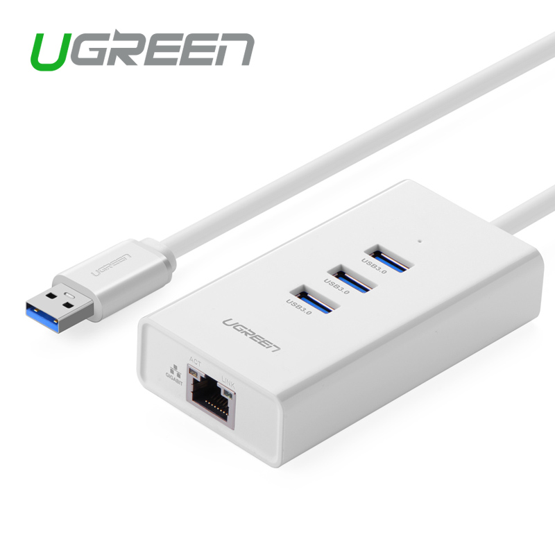 Ugreen 3 Port USB 3 0 HUB10 100 Mbps to rj45 Ethernet LAN Wired Network Card