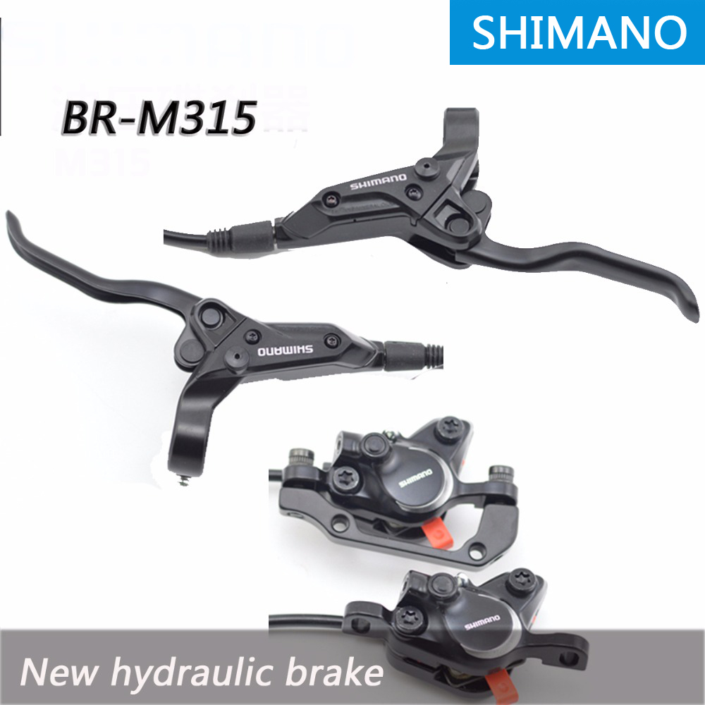 SHIMANO BR-BL-M315 MTB Bike Hydraulic Disc Brake Set Clamp Mountain for Deore/XT Brake Bicycle Disc Brake & Brake Sheet Screws shimano deore xt bl br m8000 mtb disc brake mountain bike
