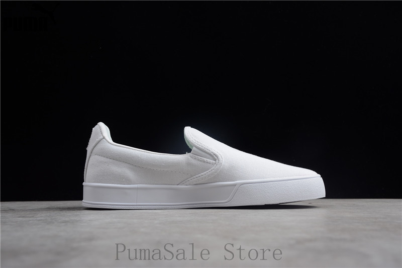 Original PUMA Smash Vulc Slip on K Men And Women Shoes 367617 02 White  Badminton Shoes Sneakers Size EUR35.5 44-in Badminton Shoes from Sports ... 758541a65