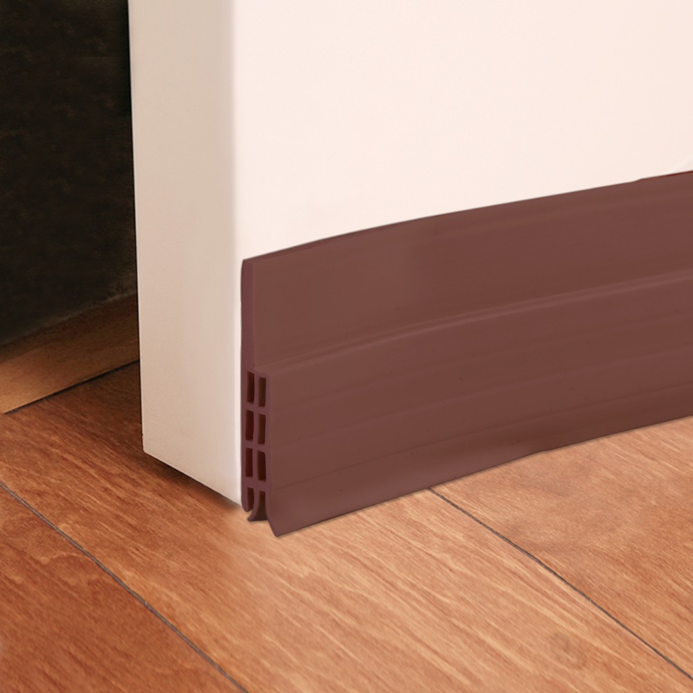 1M Silicone Self-adhesive Bottom Door Window Seal Draft Dust Blocker Strip Under Door Guard Insect Stopper Window Stripping Band