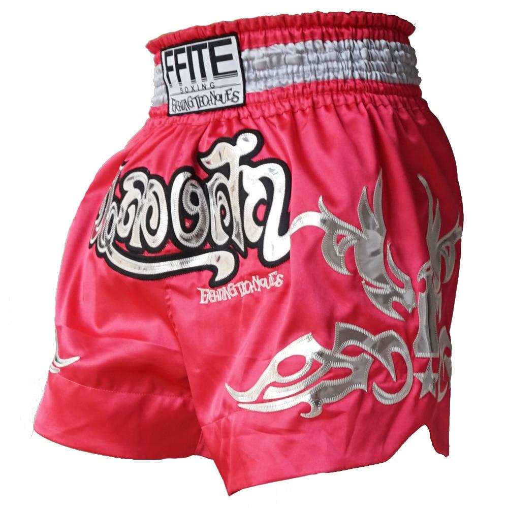 Mäns boxningbyxor boxeo MMA Shorts Fight Grappling Kick Boxning Muay Thai Thai boxning shorts spormma grappling sanda bagage