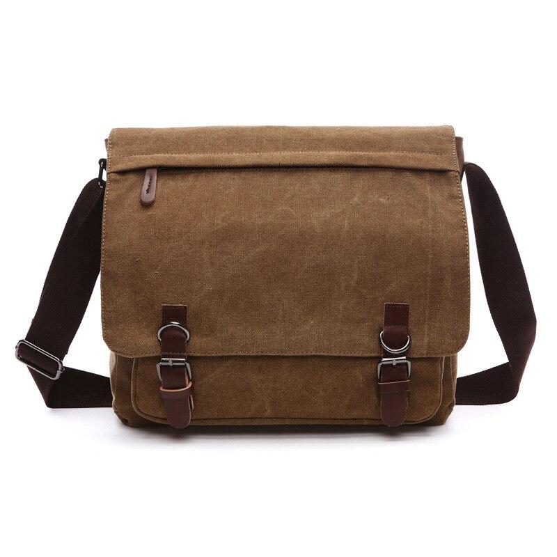 B22 Hot Sale!! New Arrive Men Canvas Bag Vintage Messenger Bag Brand Business Casual Travel Shoulder Bag Laptop Bag Male Bolsa