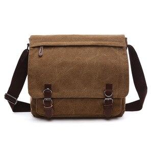 B22 Hot Sale!! New Arrive Men Canvas Bag Vintage Messenger Bag Brand Business Casual Travel Shoulder Bag Laptop Bag Male Bolsa(China)