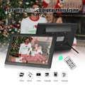 Andoer 10.1 pouces IPS LCD cadre Photo bureau numérique 1280*800 prend en charge la détection de mouvement avec 8GB télécommande de carte mémoire
