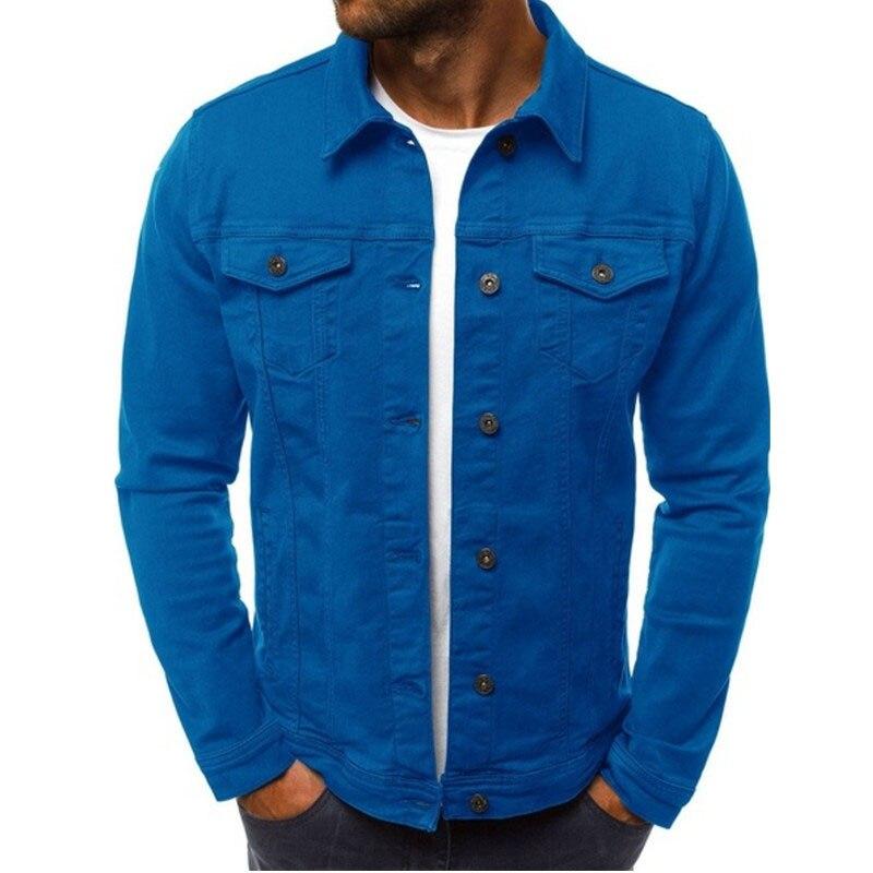 HTB1AvcaLHrpK1RjSZTEq6AWAVXak 2019 men's Jacket casual overalls jacket jacket Coats Man Buttons