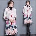 2017 As roupas de inverno casaco jaqueta de alta qualidade Mulheres nova moda básica das senhoras impresso borboleta fina camada B0122