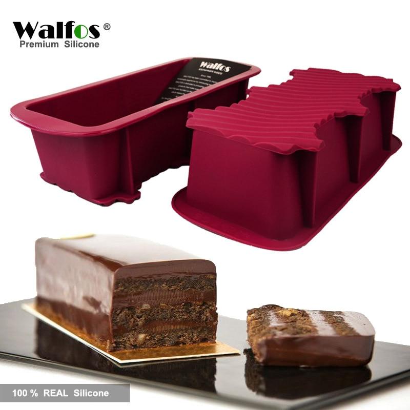 WALFOS 1 Stück Antihaft-Kuchen-Backform Backformen Großer Toast French Bread Pan-Seifenlaib Pfanne Schimmel-Back-Silikon-Kuchenform