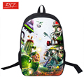 PVZ Backpack For Teens Kids Anime Sonic Mario Backpacks Plants Zombies Schoolbags Boys Girls School Bags Daily Backpack Book Bag